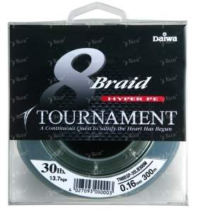 Шнур Daiwa Tournament 8 Braid 0.08 темно-зел 135м 10Lb