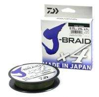 Шнур Daiwa J-Braid x4 270m 0.17mm Dark Green