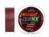 Шнур Brain NRG 8x sinking brown 0.16мм 150м