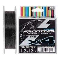 Шнур YGK Frontier X4 Assorted Single Color 100m #1.2/12lb
